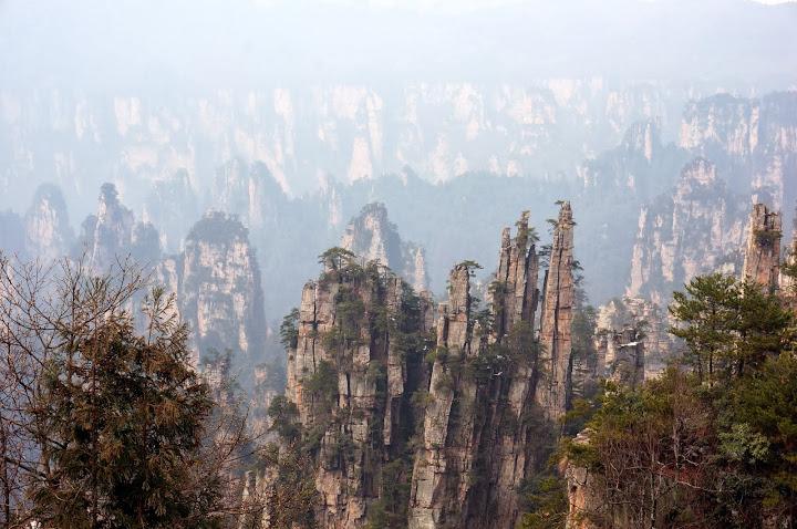 Vistas desde el pabellón de Tianzi