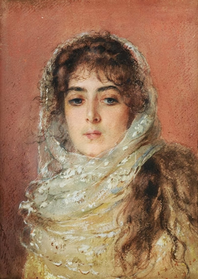 Vladimir Makovsky - Portrait of the artist's wife Yulia Pavlona Makovsky