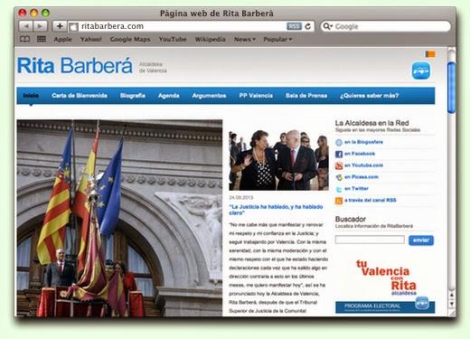 Web Rita Barberá (espanyol)