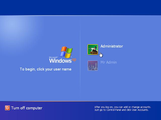 Cách xóa bỏ mật khẩu Windows XP khi quên đơn giản 2