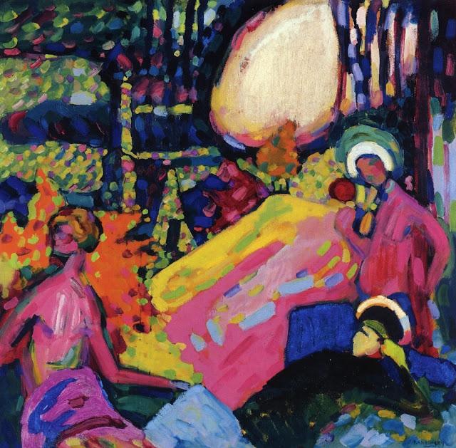 Wassily Kandinsky - White sound, 1908