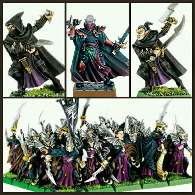 Asesinos Elfos Oscuros de Warhammer Fantasy Games Workshop