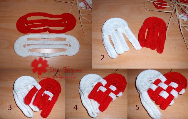 как се плете мартеница сърце