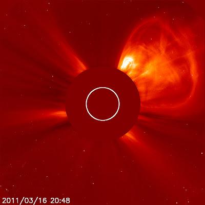 tormenta solar 16 de marzo 2011