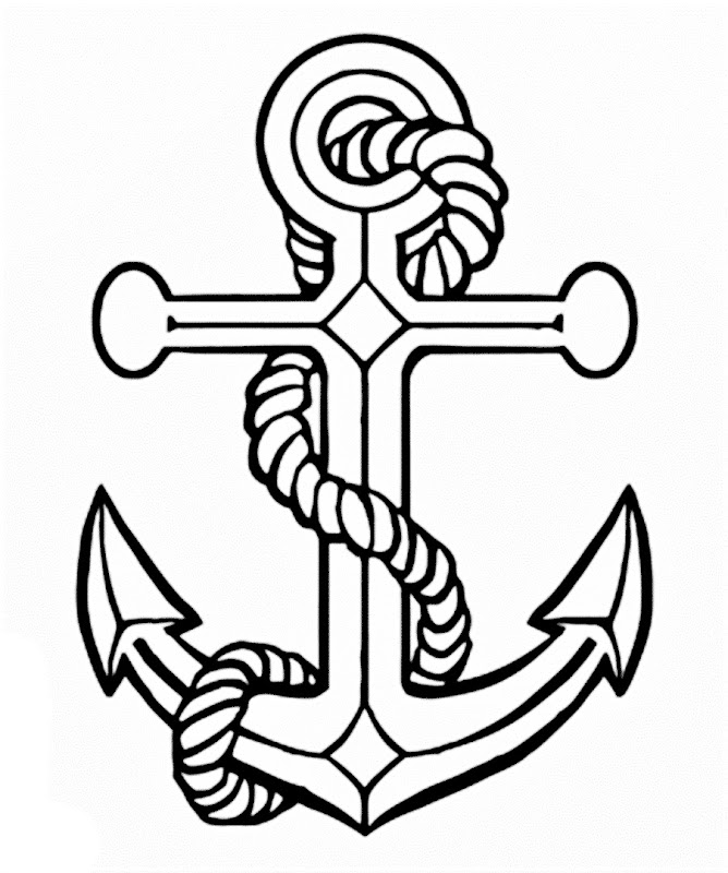 Images of a Anchor coloring pages