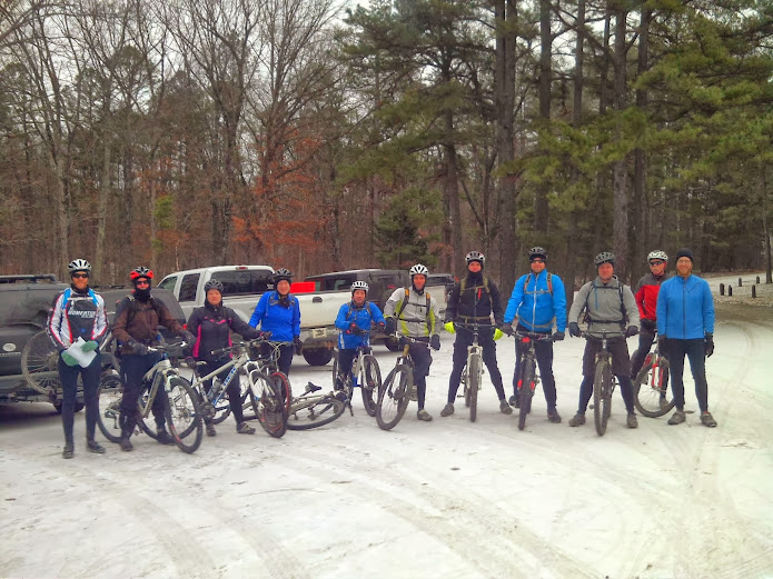Start of the MLK mountain bike ride