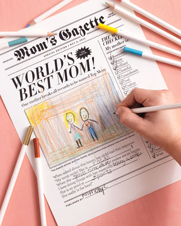 Make headlines with our clip-art newspaper.
