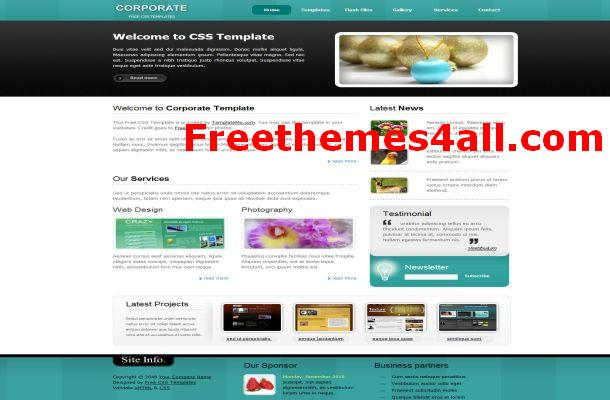 Free CSS Corporate Green Website Template