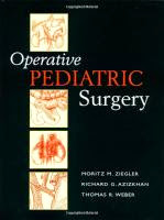 Operative Pediatric Surgery Textbook