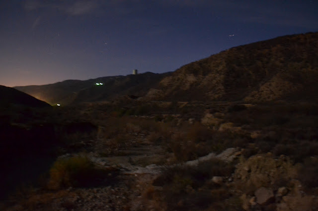Castaic Creek in the moonlight