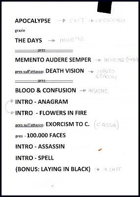 Cadaveria : set-list @ Le Klub, Paris 09/11/2012