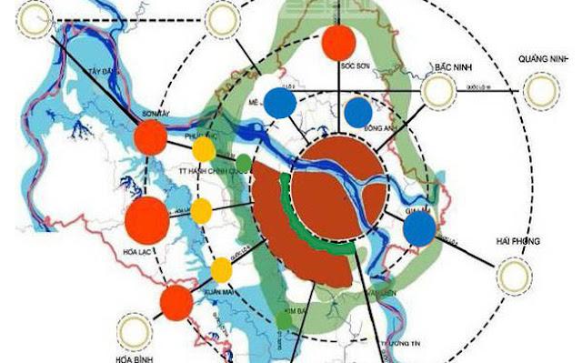 quy hoạch các tuyến  đường vành đai