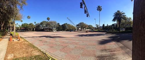 Universal's Cabana Bay Beach Resort Garden Bridge is under construction (photos by Seth Kubersky)