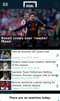 Goal.com v6.2 for BlackBerry