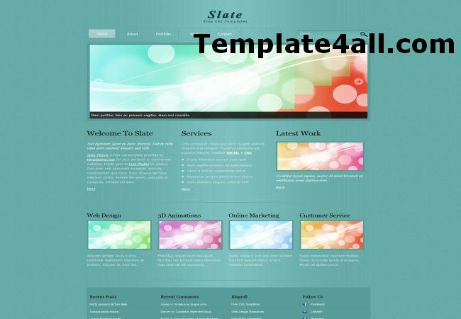 Free Greeny Business HTML Website Template