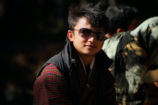 Stylish Bhutanese Man at the start of Taktsang Monastery Trek