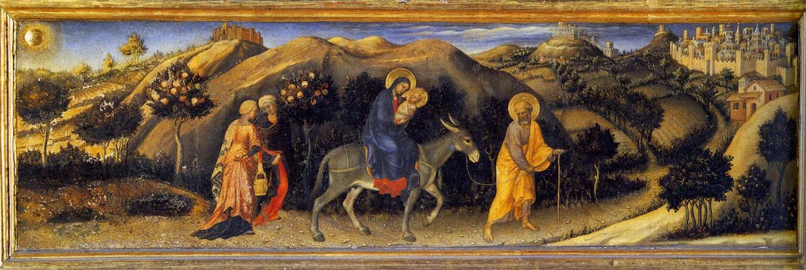 Gentile da Fabriano - Rest during the Flight into Egypt