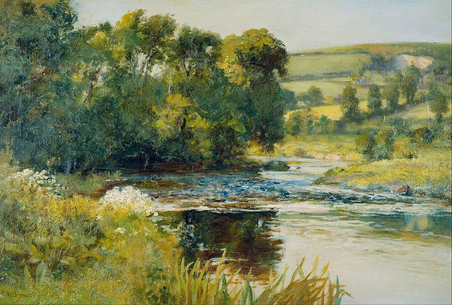 Edward Mitchell Bannister - Streamside - Google Art Project