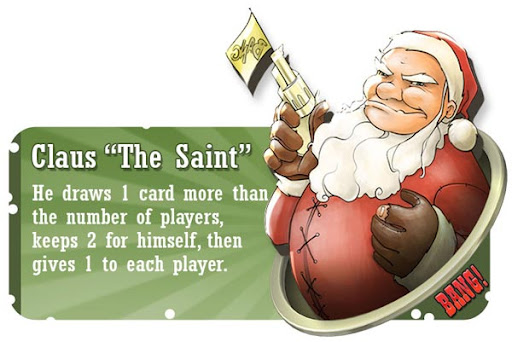 Claus the Saint BANG! card game character