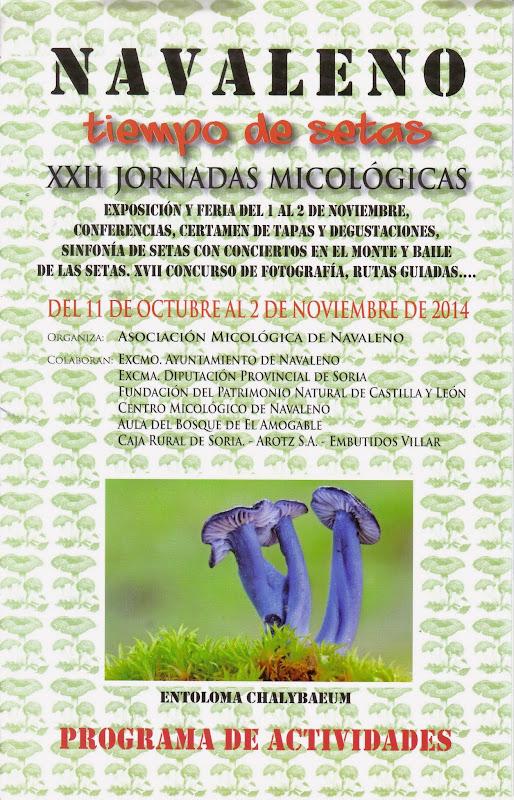 XXII Jornadas Micológicas - Cartel 2014
