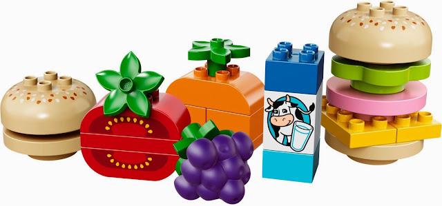 Hình ảnh sinh động đẹp mắt trong bộ xếp hình Lego Duplo 10566 Creative Picnic