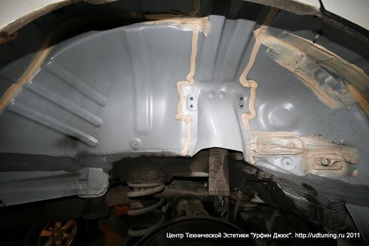 шумоизоляция колесных арок