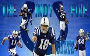 Indianapolis Colts The Indy Five Wallpaper Peyton Manning Dallas Clark