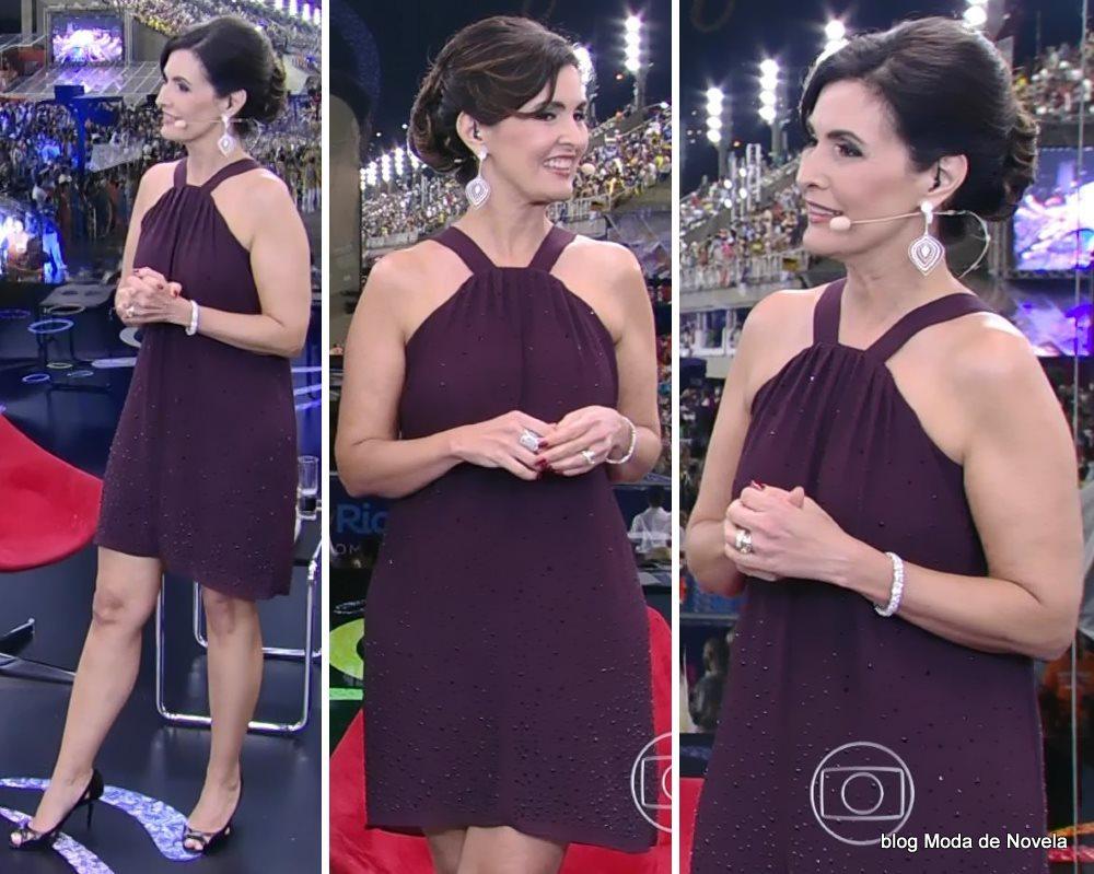 moda do carnaval Globeleza, vestido da Fátima Bernardes dia 16 de fevereiro de 2015