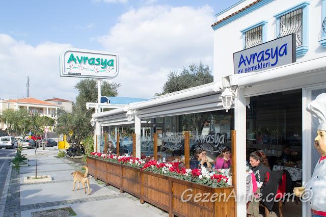 Avrasya Ev Yemekleri restoranı, Alaçatı Çeşme İzmir