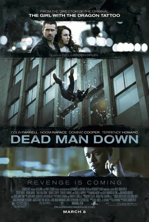 Poster Of English Movie Dead Man Down (2013) Free Download Full New Hollywood Movie Watch Online At Alldownloads4u.Com