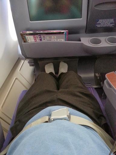 Enjoying the angled flat seat