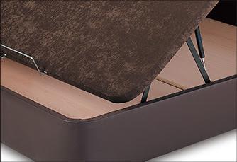 canapé con cajones laterales con tejido 3D
