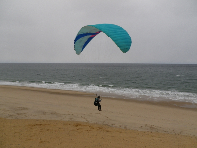 Jon A taking to the air at Wellfleet