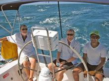 J/122 JOSS crew sailing to Darwin, Australia
