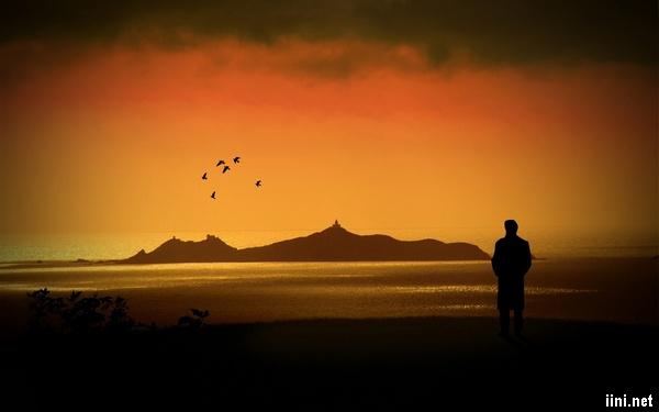 ảnh đứng trước biển một mình