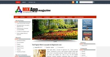 Free Wordpress Theme - Mixapp