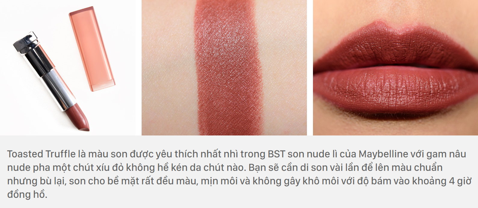 Maybelline Color Sensational Inti-Matte Nudes màu Toasted Truffle