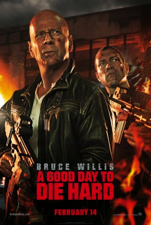 Poster Of English Movie A Good Day to Die Hard (2013) Free Download Full New Hollywood Movie Watch Online At Alldownloads4u.Com