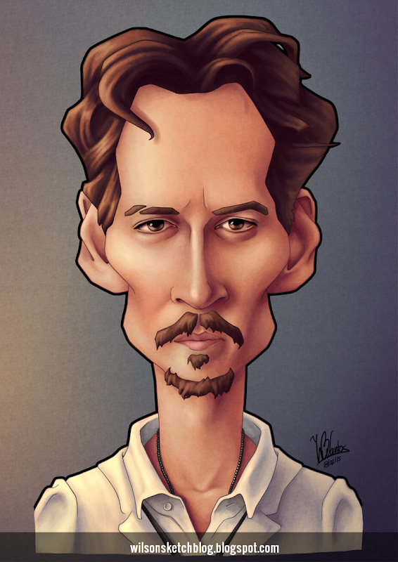 Caricature of Johnny Depp.