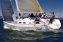 J/109 Skoot sailing in AYC Fall Series