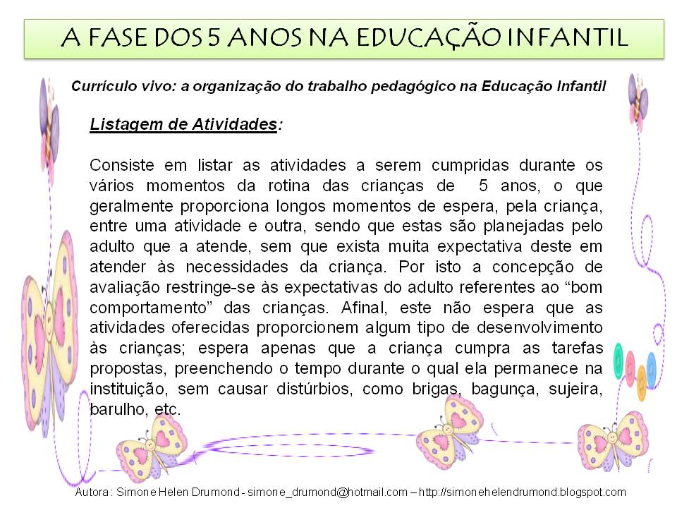 Suficiente Simone Helen Drumond : A FASE DOS 5 ANOS NA EDUCAÇÃO INFANTIL JE08