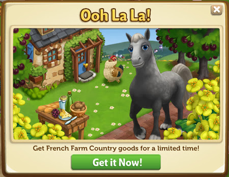 FarmVille 2 cheats codes for french farm