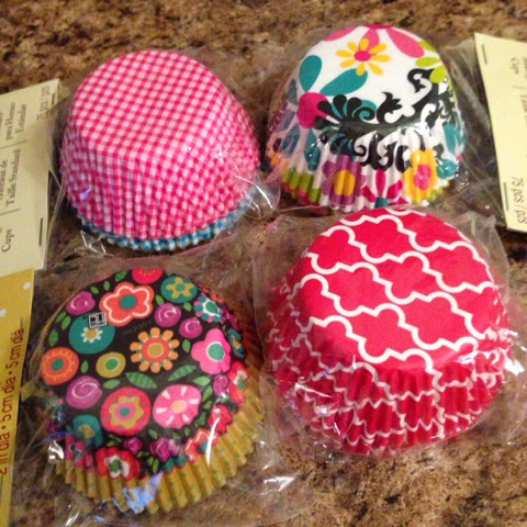 flowered cupcake liners