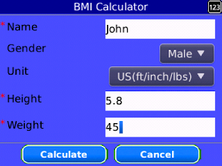 BMI Calculator v4.5