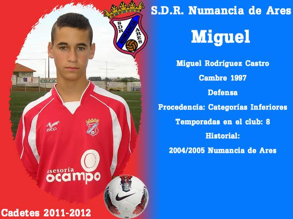 ADR Numancia de Ares. Cadetes 2011-2012. MIGUEL.
