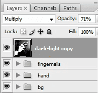 Duplicate dark-light layer
