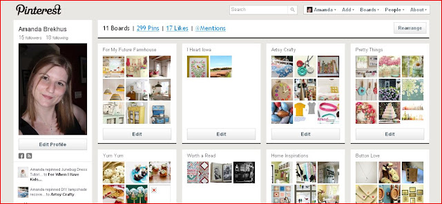 Pinterest: my pinboards
