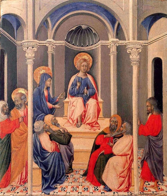 Giovanni di Paolo - Infant Christ Disputing in the Temple