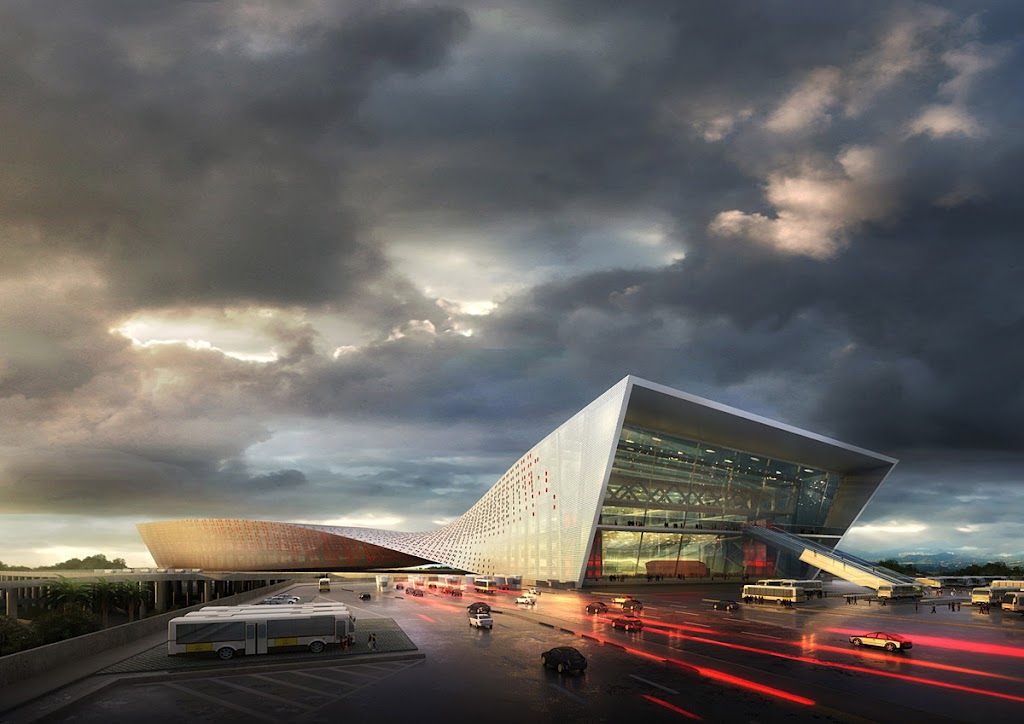 Liantang  Heung Yuen Wai Boundary Control Point Passenger Terminal Proposal design by WAU Design