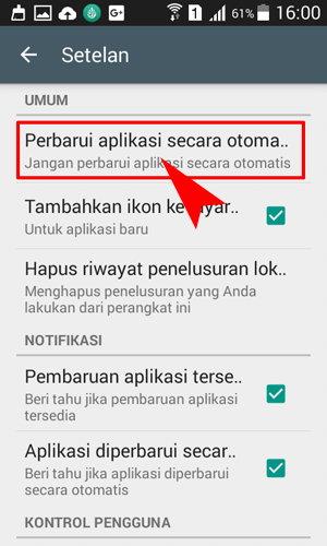 Perbaiki aplikasi secara otomatis